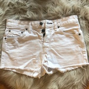 White jean free People shorts